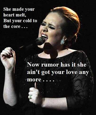 ADELE - RUMOUR HAS IT LYRICS - SongLyrics.com
